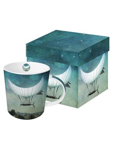 Dünya Style Moon Ship Porselen Kupa Renkli